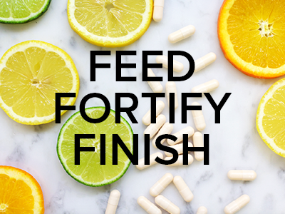 Our Steps To Great Skin - Feed, Fortify & Finish™!